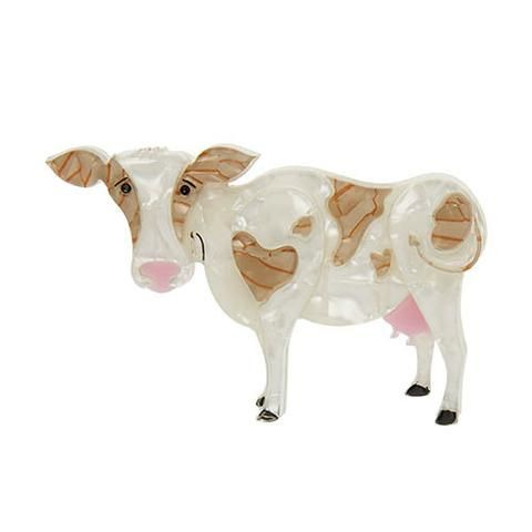 "Erstwilder Collectable Clara-Bell Brooch. ""The award for most beautiful bovine this side of the Mississippi? Do you need to ask? Clara-Bell's. Our. Winner."""