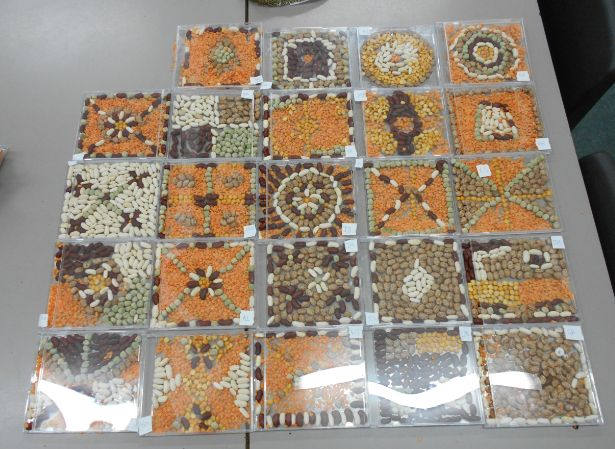 School Class Art club ideas- Roman Mosaics using a CD case and lentils/beans…