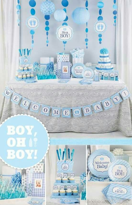 Boy oh boy banner | Decoração chá de bebê, Chá de bebê ...