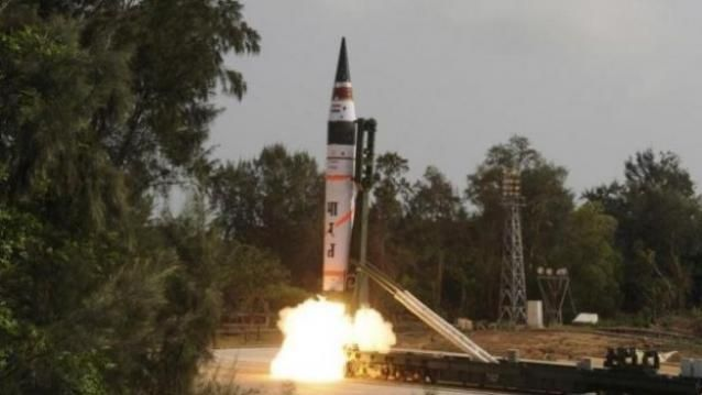 India tests nuclear capable Agni V having a range of 5000 plus kilometer.this missile fire through a truck operated fire system as mobile truck