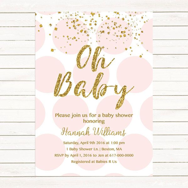 Best  Baby Girl Invitations Ideas On   Baby Shower