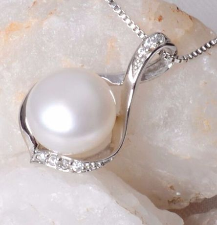 Be special: ASHIQI Real Natural Freshwater pearl necklace 925 ...