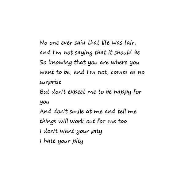 I hate music bernstein lyrics