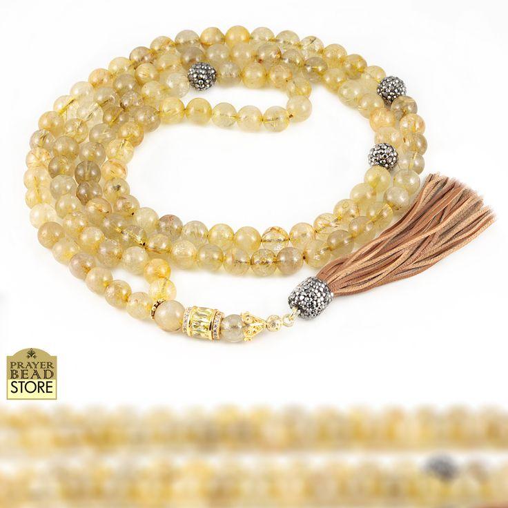 Golden rutilated quartz mala #mala #meditation #prayerbeads #108beads