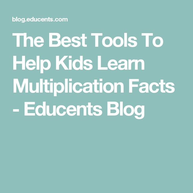 10 Ways to Practice Multiplication Facts - Teaching With ...