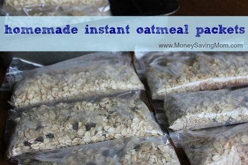 Homemade Instant Oatmeal Packets -- these are so simple to make and will save you a lot of money!