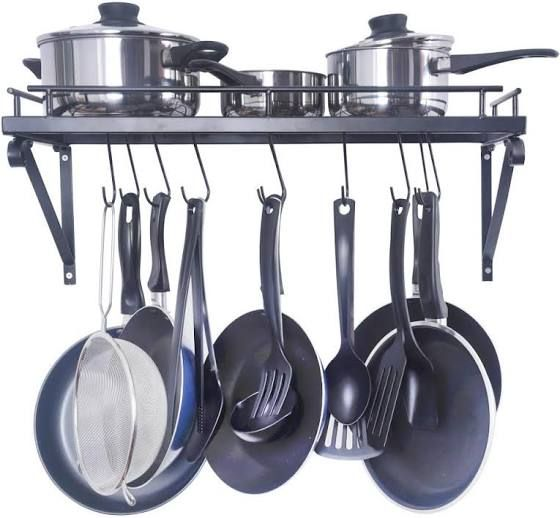 Wall Mounting Pots And Pans Kitchen Remodel Pot Rack Kitchen Rack