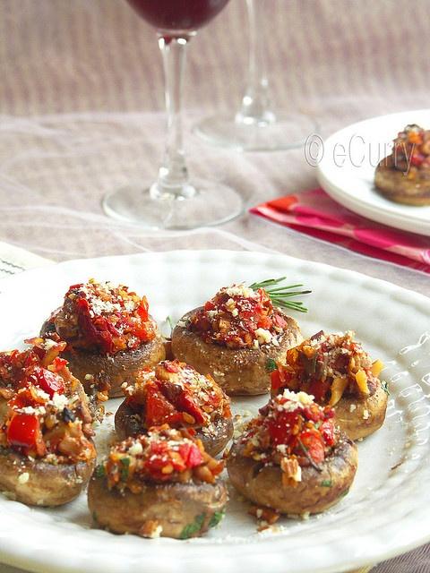 sundried tomatoes flamenco theme tomatoes stuffed stuffed mushrooms ...