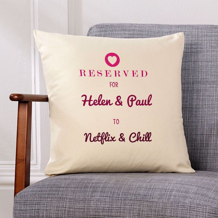 Netflix & Chill Personalised Cushion. Beautiful 💕 Personalised Word Cushions & Pillows. Easy to Create & Preview On Screen Before You Buy. Fast Free Delivery. A perfect gift for any occasion. www.chatterboxwalls.co.uk  #wordart #typography #personalisedcushions #cushions #interiordesign