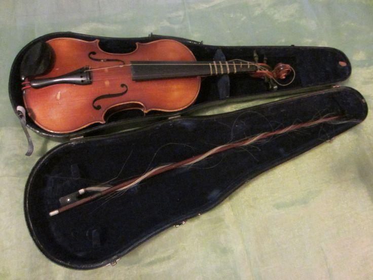 Anton Becker Copie Antonius Stradivarius Violin Mother Of Pearl Bow