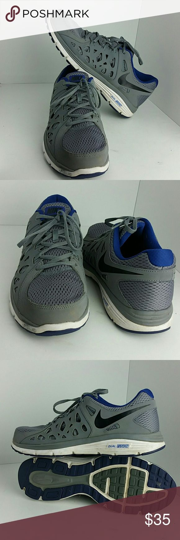 NIKE DUAL FUSION RUN 2 II MEN'S SHOES IN GOOD CONDITION   SKE # BK NIKE Shoes Athletic Shoes