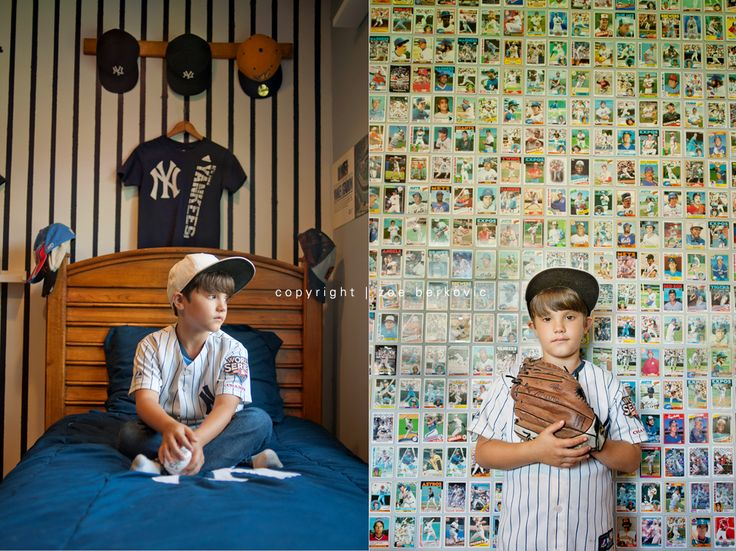 Cute Idea To Cover A Small Wall In The Trevors Room W Baylors Old Baseball