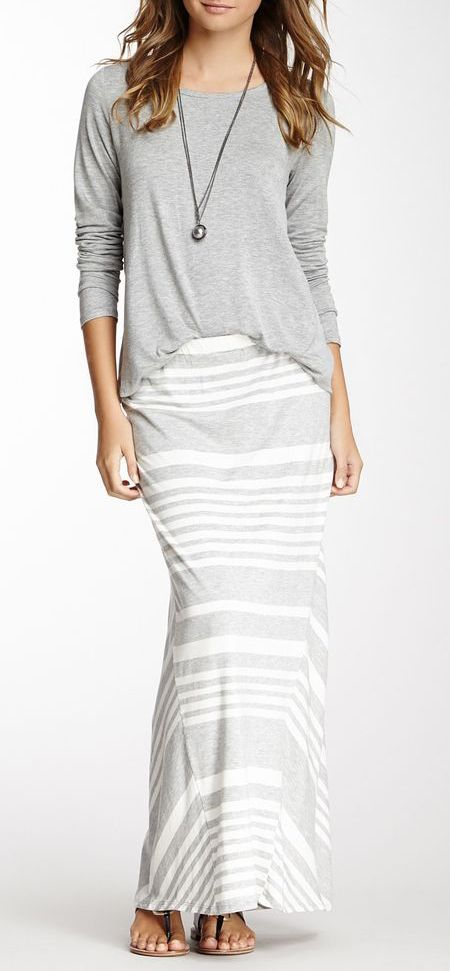 A striped maxi is the perfect throw on for easy summer style.
