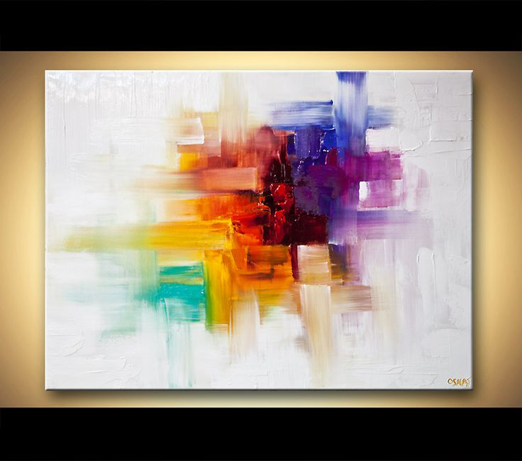 Original abstract art paintings by Osnat Colorful