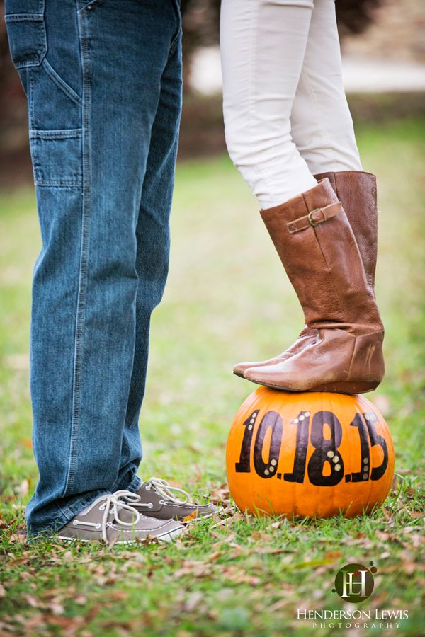 Save the date ideas, pumpkin, fall theme, October wedding ideas, Charlotte, NC, engagement,