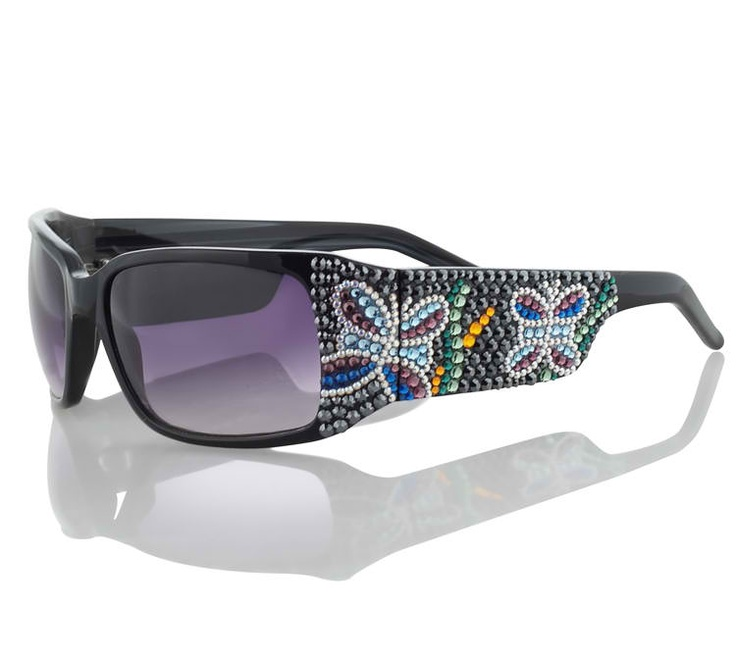 Swarovski Crystal Butterfly Design Sunglasses By Jimmy