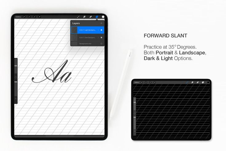 Download Procreate lettering grid pack