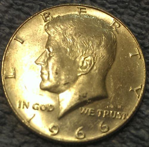 1966 50c Kennedy Half Dollar Coins Silver And Kennedy