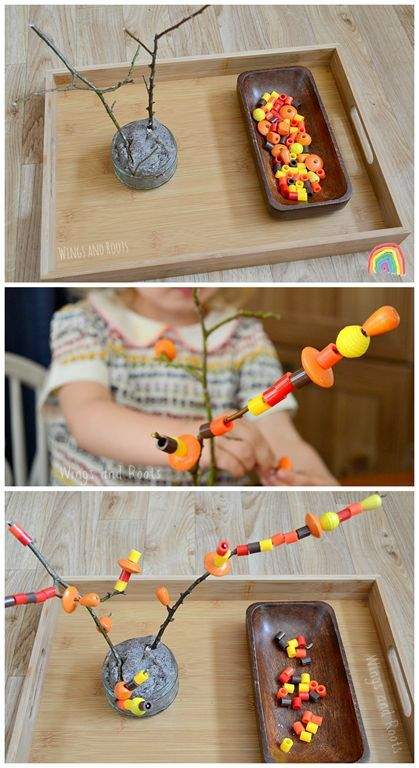 Autumn Tree Threading Activity Wings and Roots