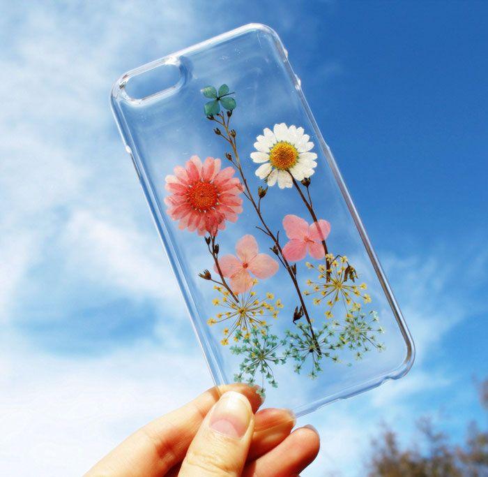 Funda de flores para el celular