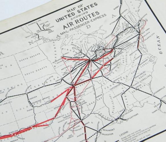 Original 1919 - 1920 colored vintage mapGlobes Maps, Colors Vintage, Favorite Things, Originals 1919, Cartography, Route Maps, Vintage Maps, Graphics, Air Route