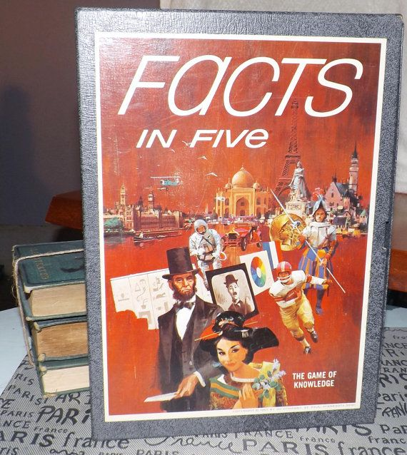 Mid-century c.1964 Facts in Five trivia  general by BuyfromGroovy