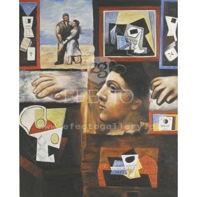 Studia w ujęciu Picasso, też jeden z lepszych obrazów. Kopia znanego dzieła za 2500 zł
