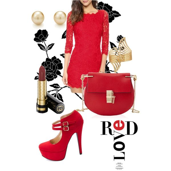 A fashion look from December 2014 featuring Charlotte Russe pumps, Tiffany & Co. earrings and Forever 21 bracelets. Browse and shop related looks.