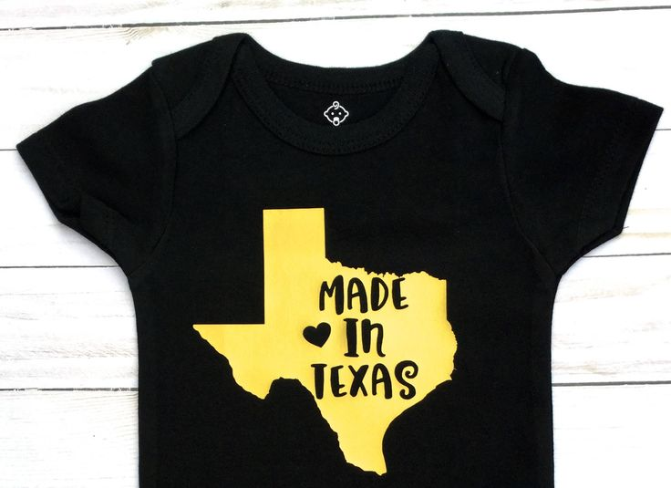 Made in Texas/ Gender Neutral/Baby Shower Gift/ Black and Gold/Baby Announcement/Baby Boy Onesie/ baby girl Onesie/ Texas baby/ by sunnyvilledesigns on Etsy https://www.etsy.com/listing/555757984/made-in-texas-gender-neutralbaby-shower