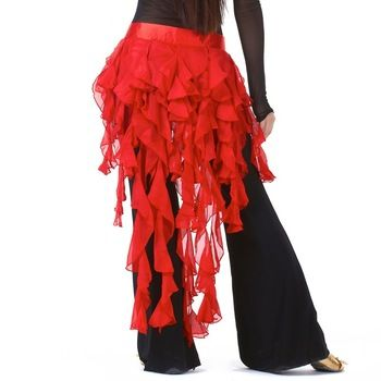 Cheap Dancewear Belly Dancing Clothes Chiffon Skirt for Practice Adjustable Fit Wrapped Belt Women Belly Dance Hip Scarf