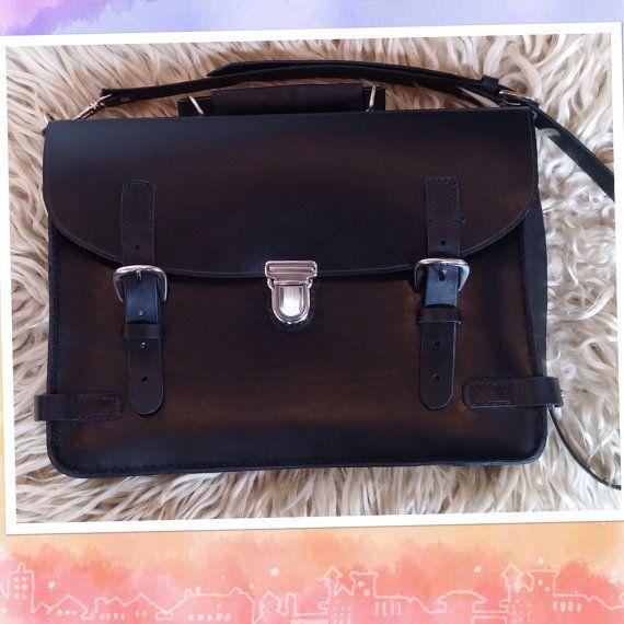 Genuine leather portfolio /jw service meeting bag by Handbagemma