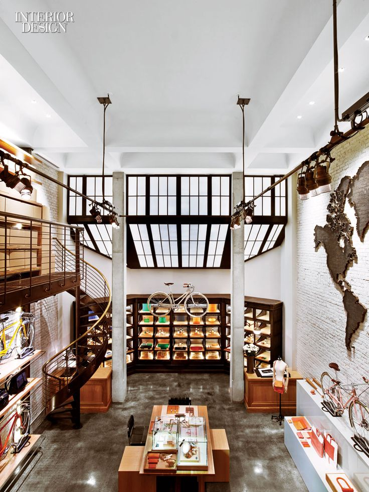 Filled The Shinola Shop In New York With Materials That Reference Our Countrys Manufacturing Heritage From Brick Walls To Poured Concrete Flooring