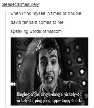 David Tennant speaking words of wisdom