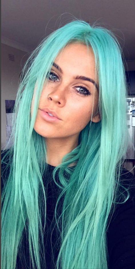 Turquoise Color Hair