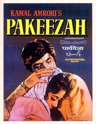 Vintage Bollywood poster of 'Pakeezah'. Did you know the film took nearly 14 years to make? #Timeless #Classics #Bollywood #MumbaiMatinee