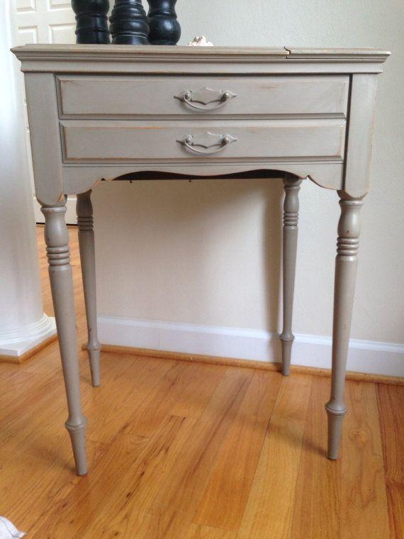 Vintage Painted Sewing Machine Table Annie Sloan Chalk