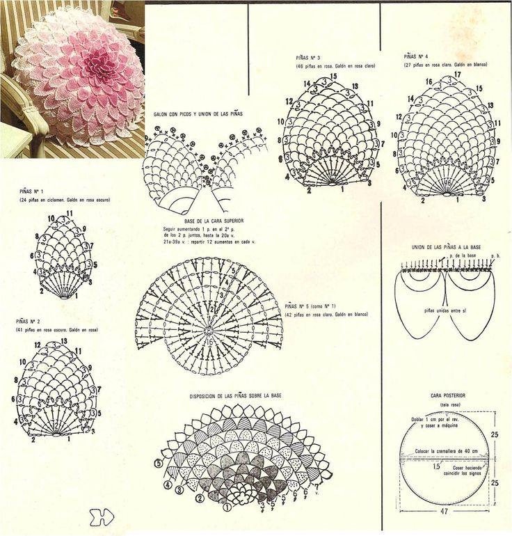 Mejores 414 imágenes de Crochet 4 en Pinterest | Punto de crochet ...