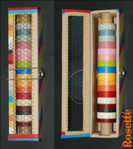 Rangement pour les rouleaux de masking tape