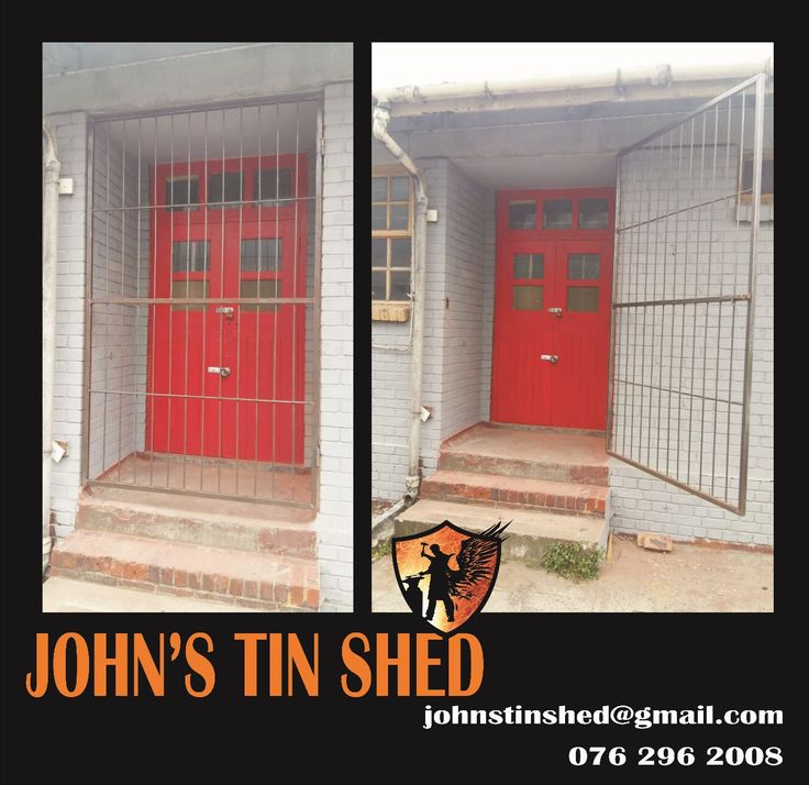 Workshop entrance security gate
