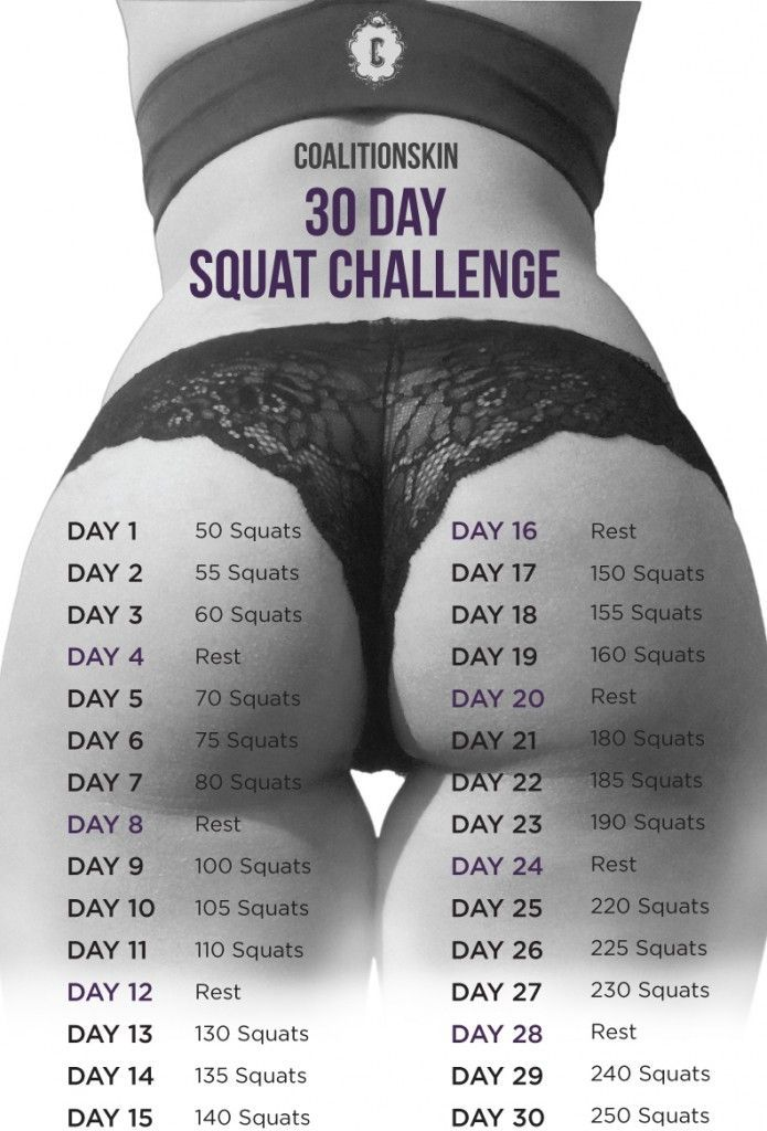Most popular: 30 Day Squat Challenge