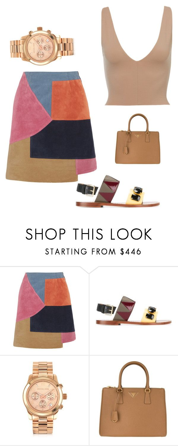 """""""Out of order"""" by xeniyagreen on Polyvore featuring M.i.h Jeans, Marni, Michael Kors and Prada"""