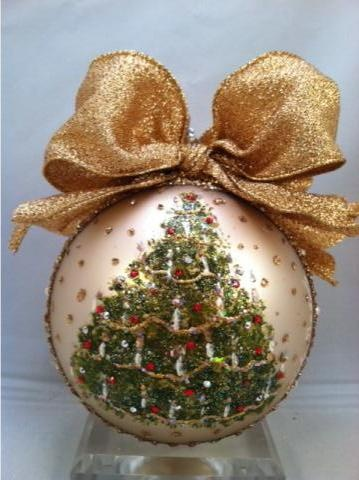 Gorgeous Christmas ornament by Natalie Sarabella