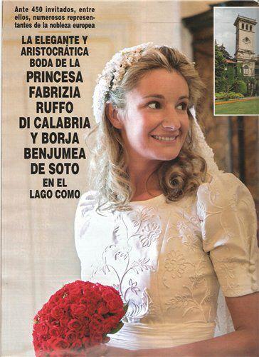 Fabrizia Ruffo Di Calabria and Borja Benjumea de Soto get married on June 9, 2012 in Como, Italy.
