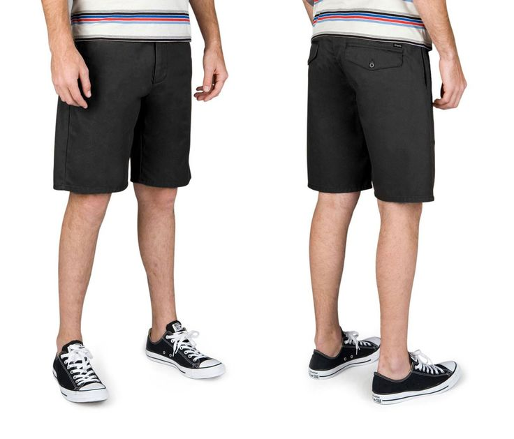 Brixton - Carter Relaxed Fit Men's Chino Shorts, Black