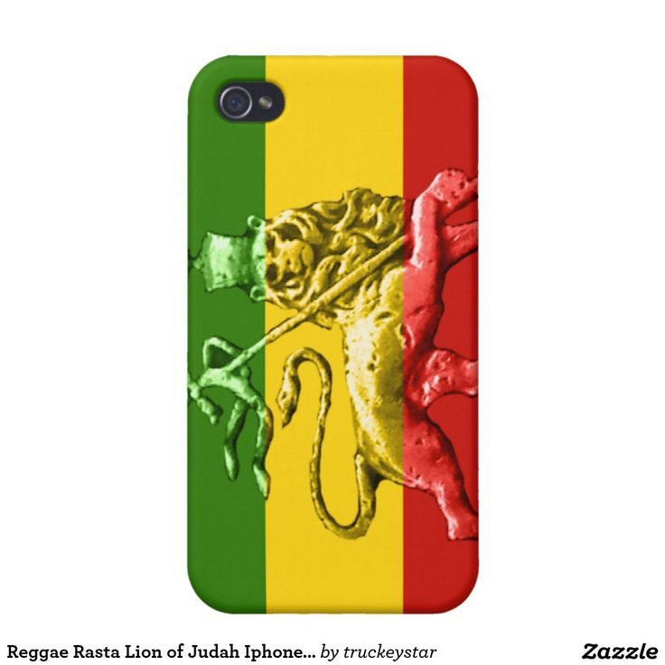 Reggae Rasta Lion of Judah Iphone 4 Cover