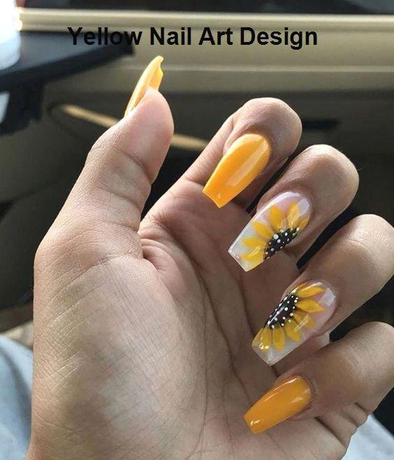45 atemberaubende gelbe Nageldesigns für 2019