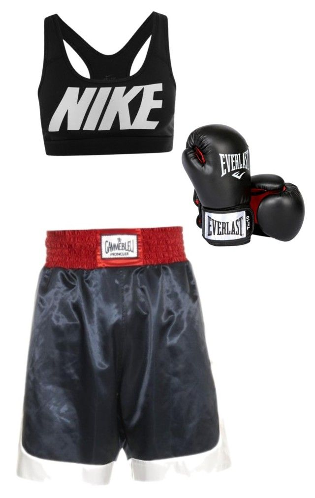 """Cute boxing outfit"" by sparklesnow on Polyvore featuring Moncler Gamme Bleu, NIKE and Everlast"