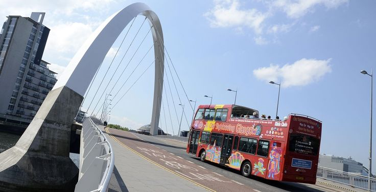Join City Sightseeing for an entertaining and colorful insight into Glasgow past & present!! Tour highlights include: Botanic Gardens Glasgow Cathedral Glasgow City Chambers Glasgow Science Centre Kelvingrove Museum & Art Gallery Merchant City Riverside Museum University of Glasgow People's Palace