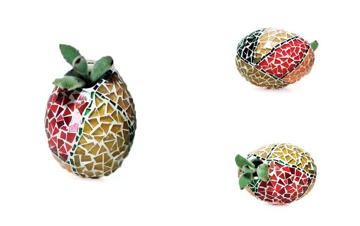 huevo, maceta, suculenta, mosaico tiffany, Egg, pot, suculent, mosaic arte, tiffany glass by: Jimena Navarro Mosaico fusión