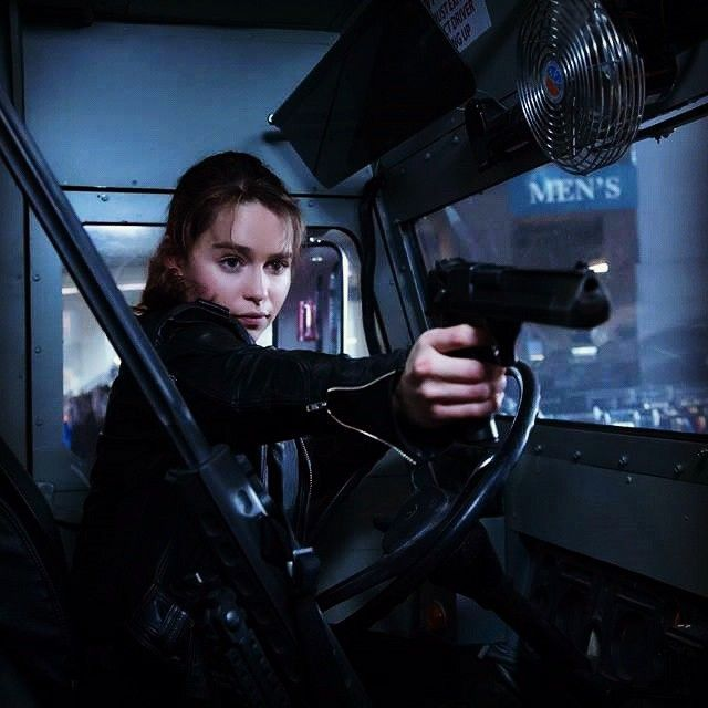 Humanity's only hope! #EmiliaClarke is Sarah Connor in #TerminatorGenisys. Double tap if you're eagerly waiting for July 3